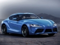 2018 Toyota Supra rendering blue