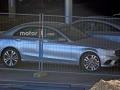 2019 Mercedes-Benz C-Class behind fence