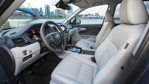 2018 Honda Pilot interior side view 630x354