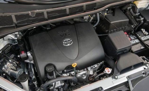 2018 Toyota Sienna engine 630x385