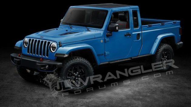 2019 Jeep Wrangler Pickup blue 630x355
